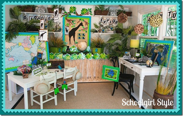 Classroom Decor Jungle ~ The animal adventure collection schoolgirlstyle