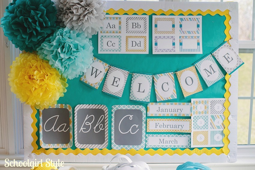 Yellow Classroom Decor ~ Teal grey yellow decor gray our family room