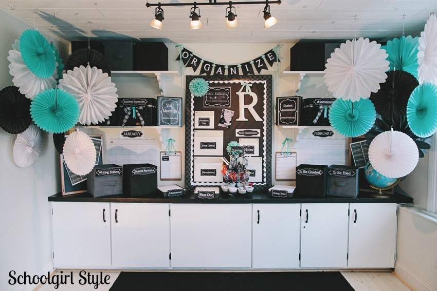 Classroom Theme Ideas For Middle School ~ Organization in style schoolgirlstyle