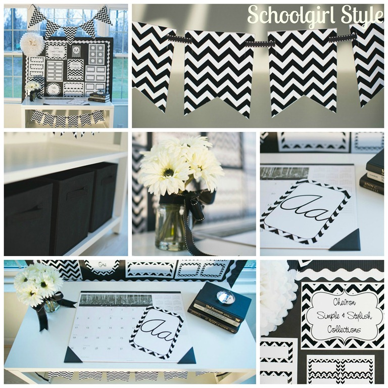 Classroom Decor Gray ~ Chevron chic classroom collections schoolgirlstyle