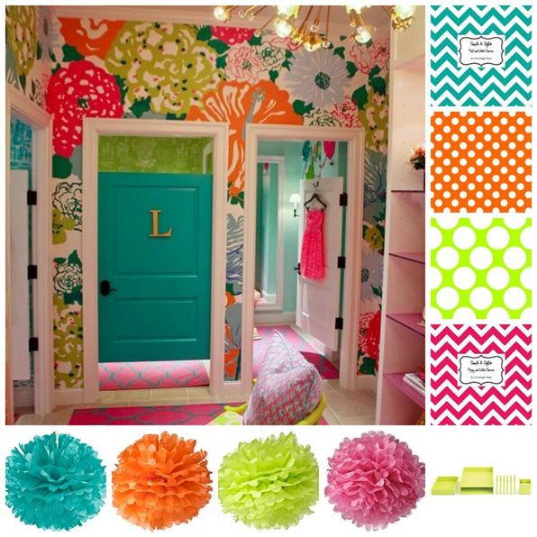 Classroom Decor Inspiration ~ Lilly pulitzer inspired classroom giveaway schoolgirlstyle
