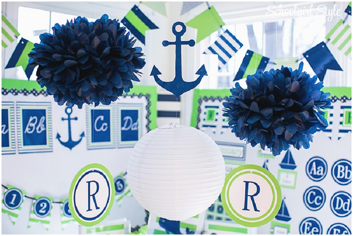 Preppy Nautical Classroom Theme
