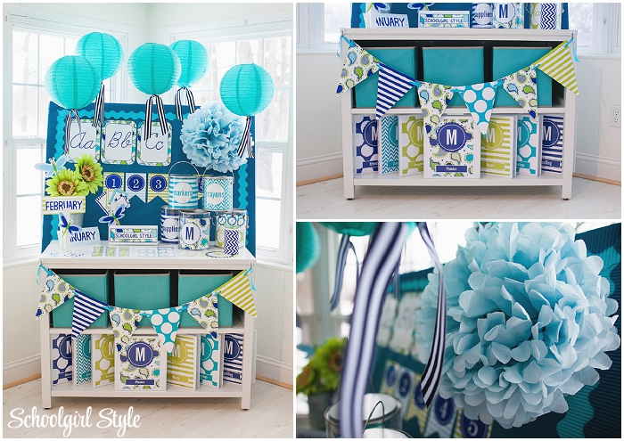 Turquoise Classroom Decor : Paisley turquoise blue and green schoolgirlstyle