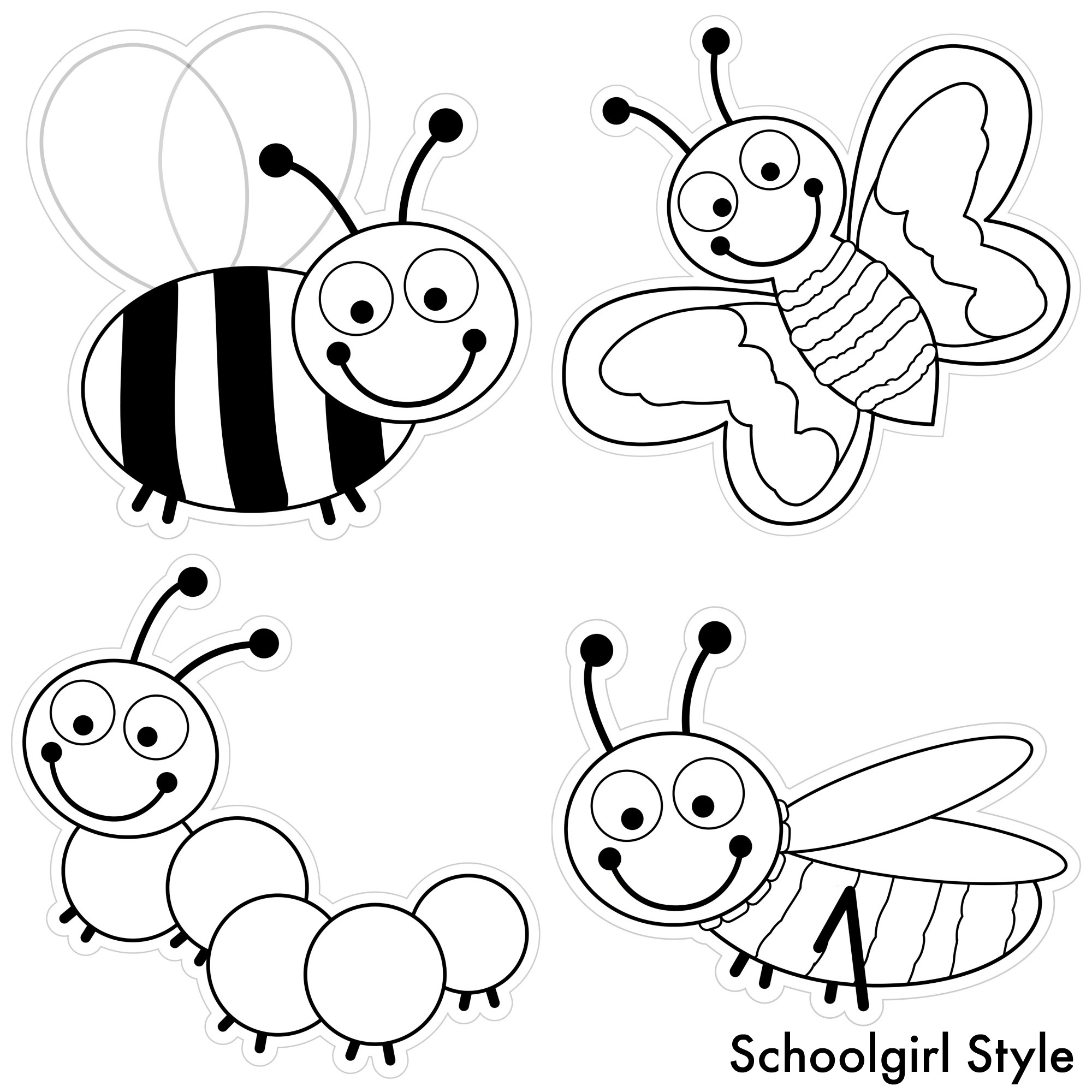 color my classroom bugs by schoolgirl style