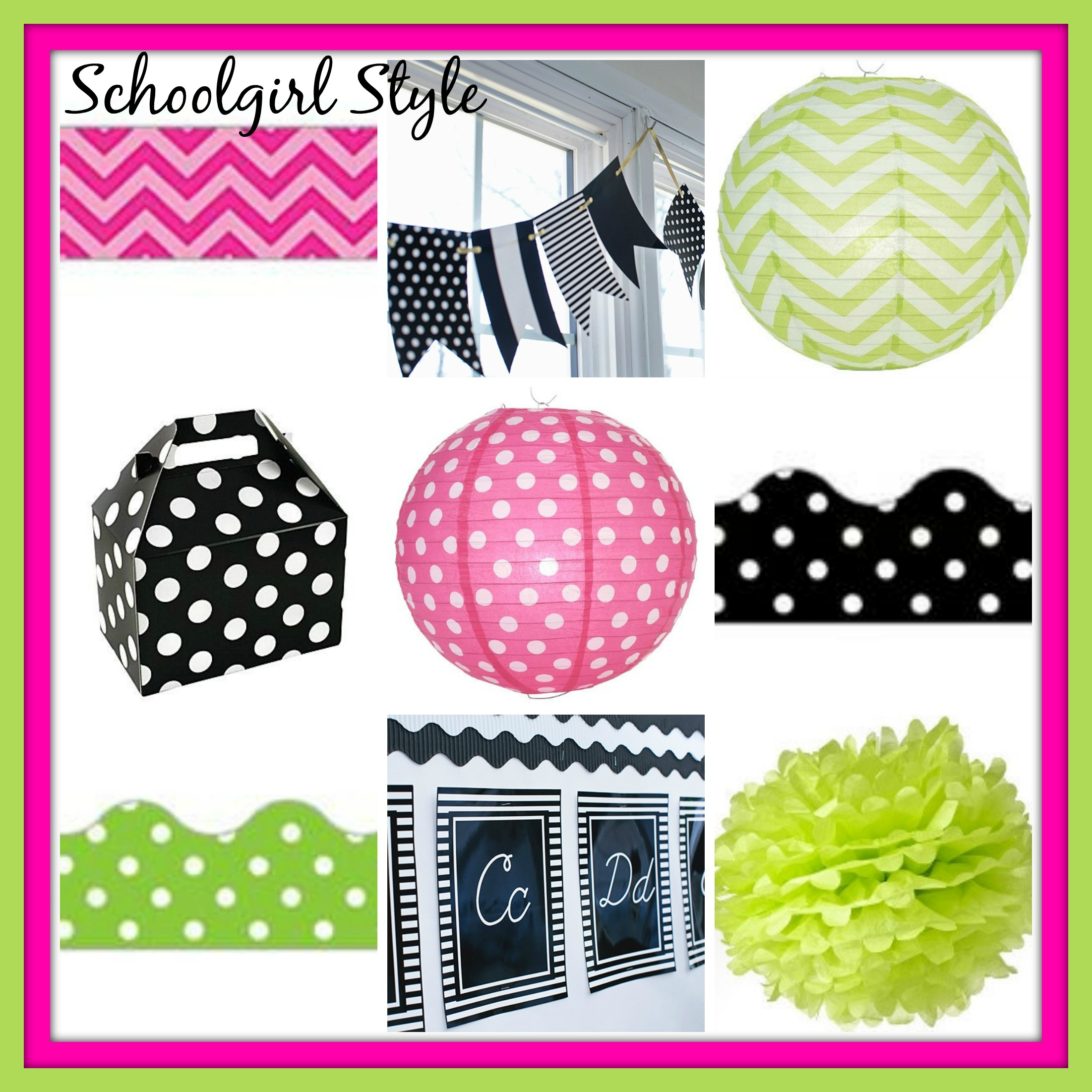 Lime Green Hot Pink Clroom Decor Themes By School Style