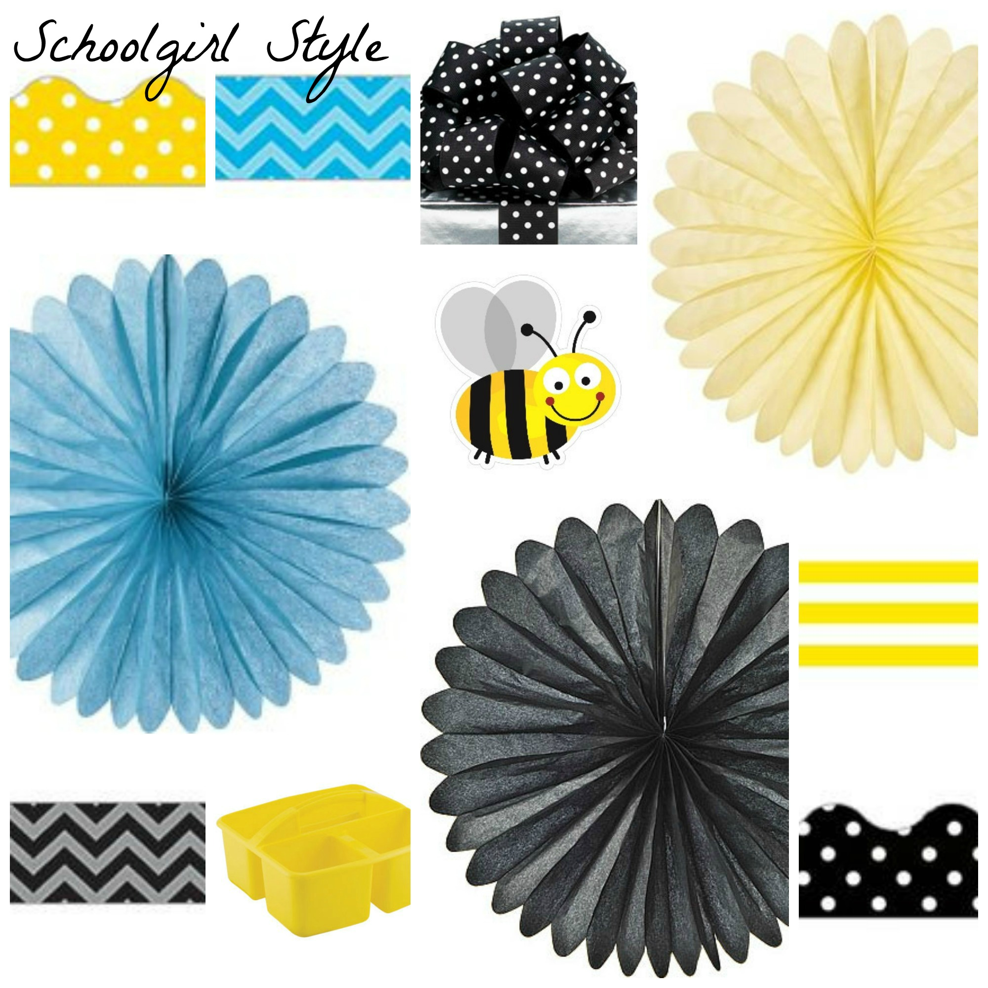 Yellow Classroom Decor ~ Polka dot party inspiration schoolgirlstyle