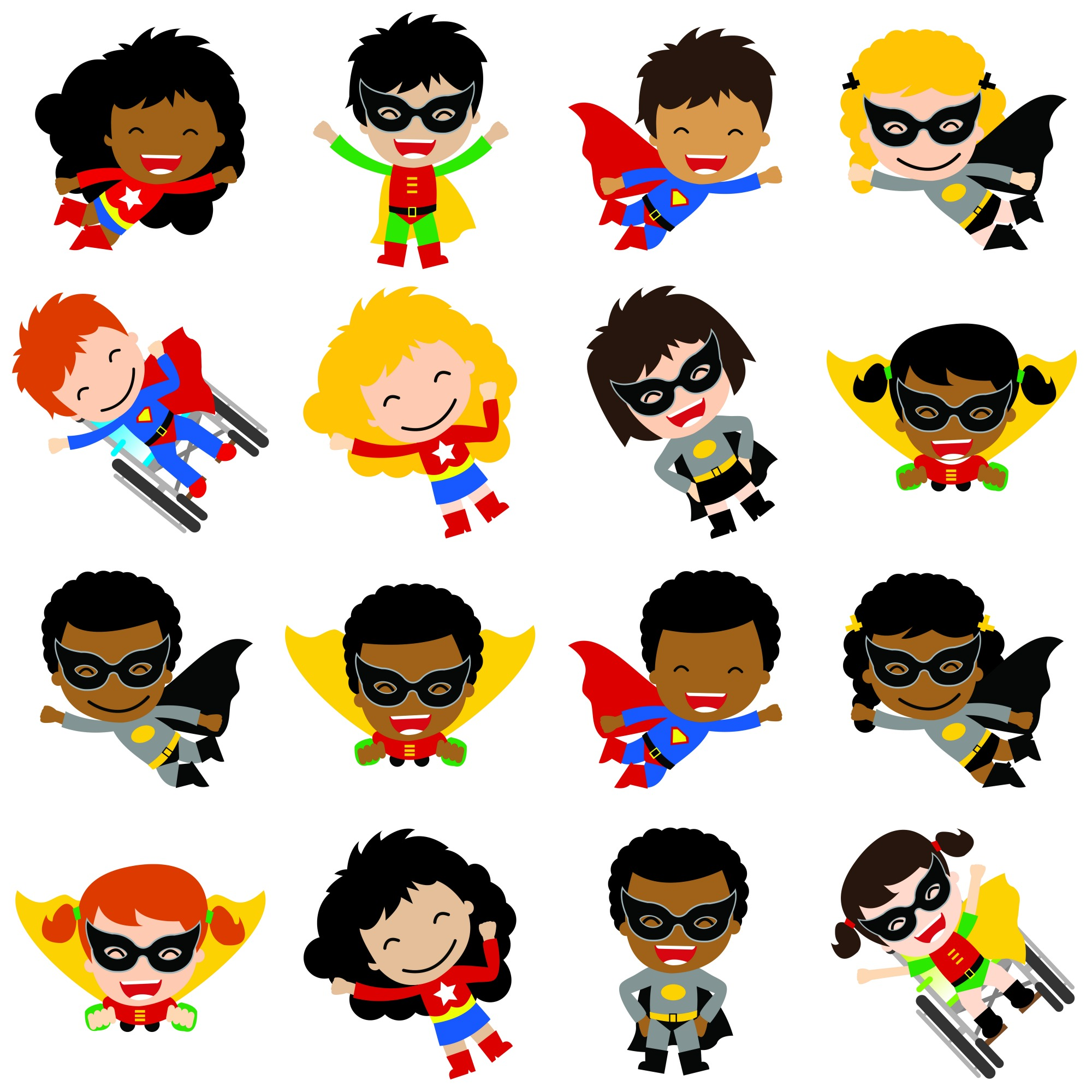 Multicultural: Kid Cartoon Superheroes - Google Search
