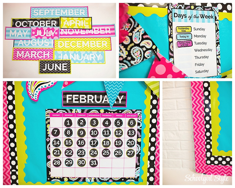 Calendar Design For Classroom : Midnight orchid and tickle me pink paisley schoolgirlstyle