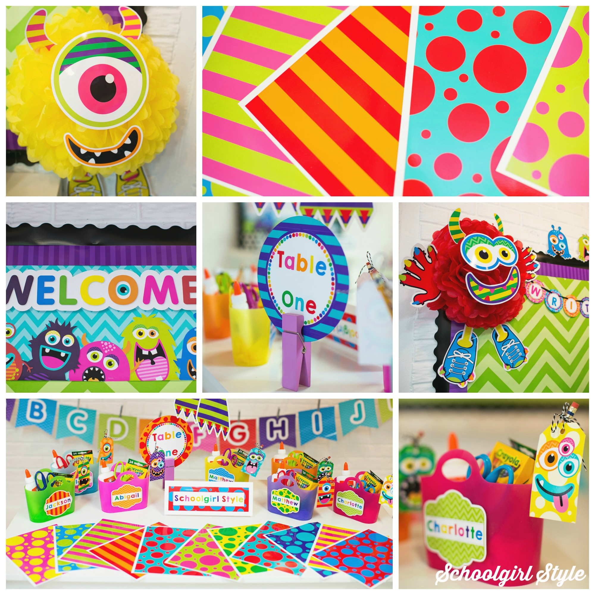 Monster Classroom Decor ~ Monster mania schoolgirlstyle