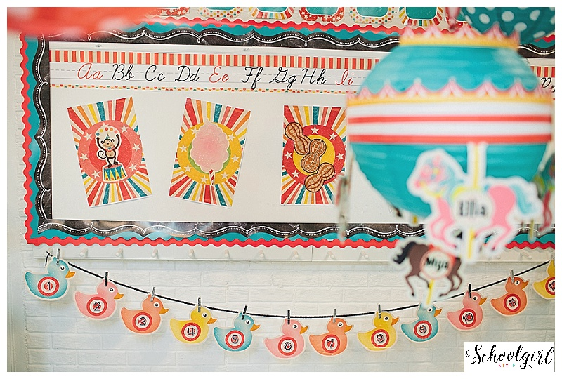 """Vintage Circus""  Classroom Decor Collection"