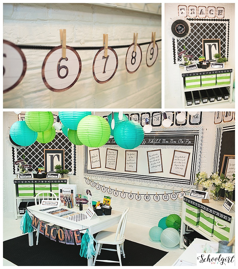 Classroom Decor Collections ~ Industrial chic classroom decor collection schoolgirlstyle